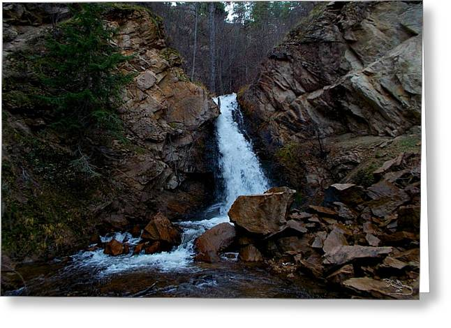 Hardy Falls Peachland Bc Greeting Card by Guy Hoffman