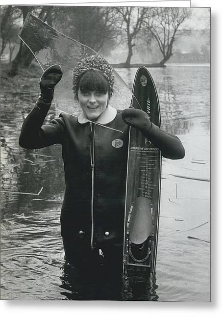 Hardy Jeannette Breaks The Ice At Rickmansworth Aquadrome Greeting Card by Retro Images Archive