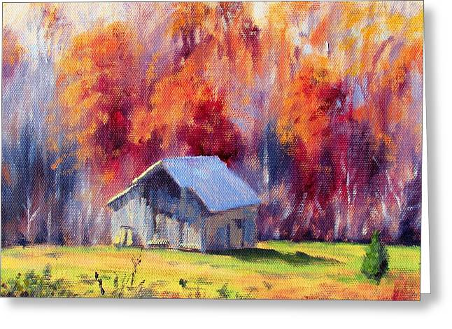 Hardy Road Barn- In Autumn Greeting Card