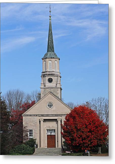 Harkness Chapel At Connecticut College Greeting Card by Juergen Roth
