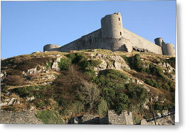 Greeting Card featuring the photograph Harlech Castle by Christopher Rowlands