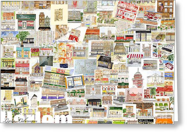 Harlem Collage Of Old And New Greeting Card