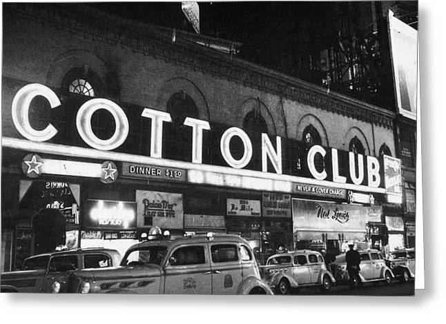 Harlem Cotton Club, 1930s Greeting Card