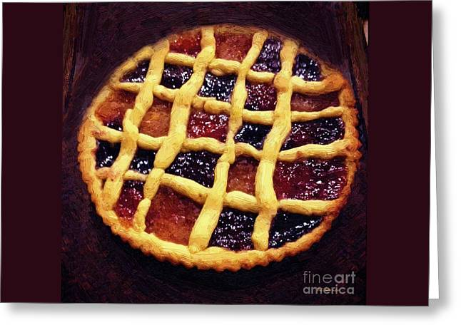 Harlequin Tart Greeting Card