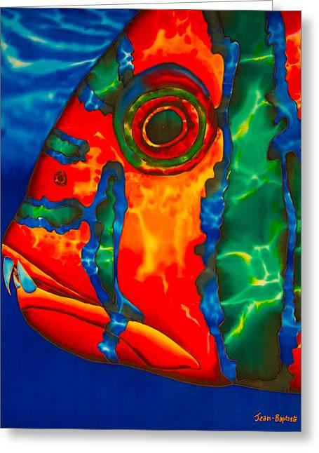 Harlequin Tusk Fish Greeting Card by Daniel Jean-Baptiste