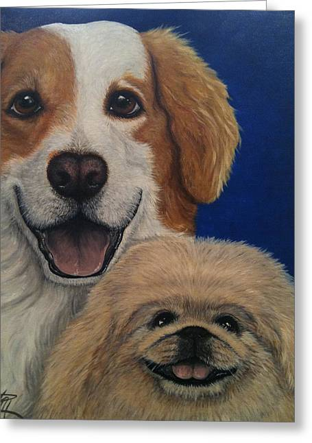 Harley And Munchie Greeting Card