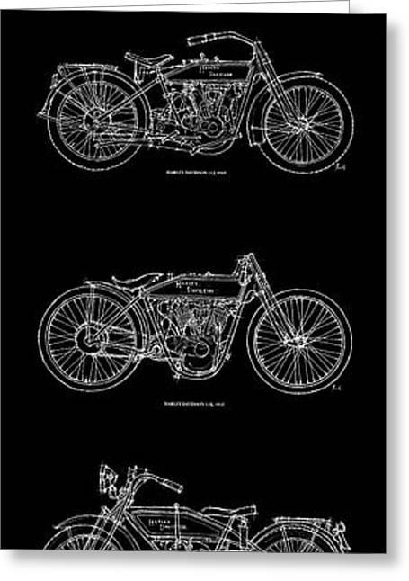 Harley Davidson - 1907 To 1921 Greeting Card by Pablo Franchi