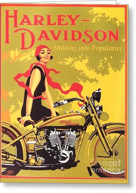 Harley Davidson 1927 Poster Greeting Card