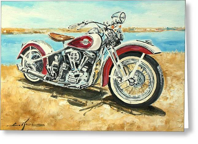 Harley Davidson 1960 Greeting Card