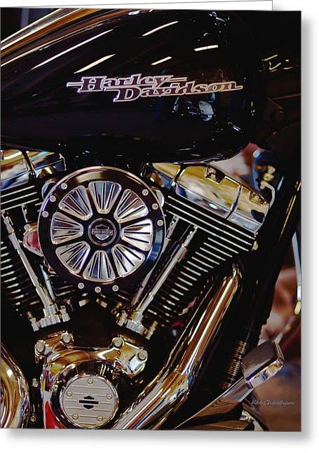 Harley Davidson Abstract Greeting Card