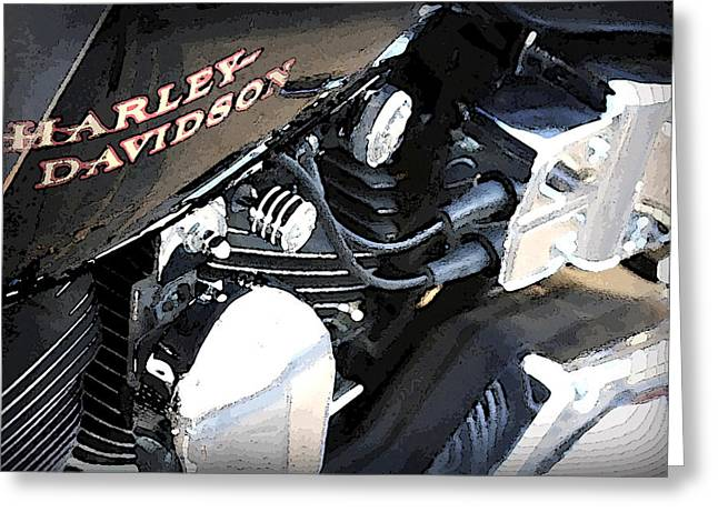 Harley - Davidson Greeting Card by CarolLMiller Photography