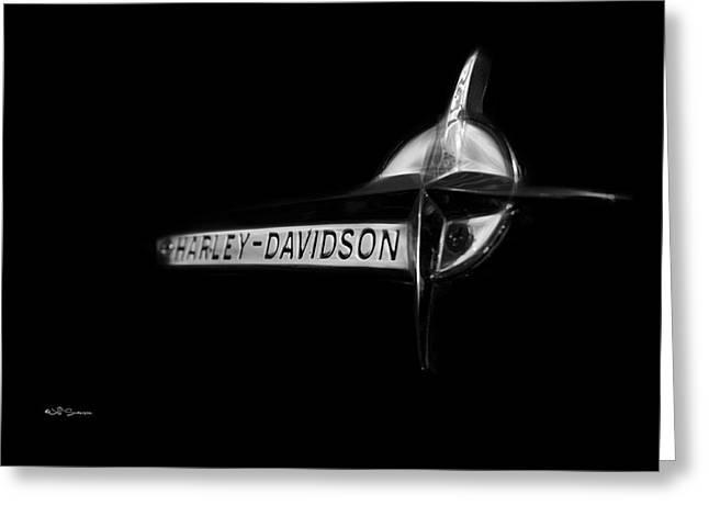 Harley Davidson Emblem Greeting Card