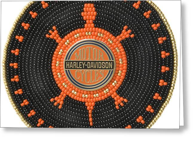 Harley Davidson Iv Greeting Card