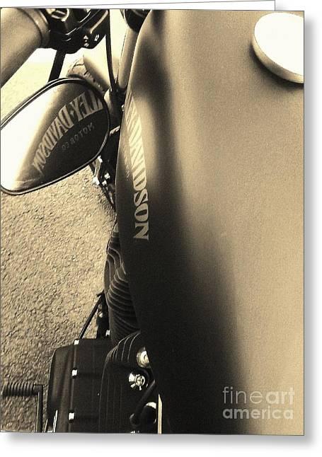 Harley Davidson Greeting Card by Jessie Art