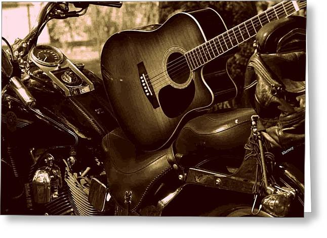 Harley Davidson Made Into 1960ish Greeting Card