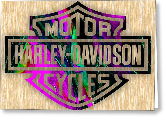 Harley Davidson Motorcycles Greeting Card by Marvin Blaine