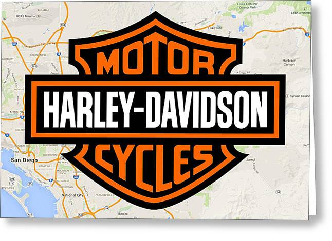 Greeting Card featuring the digital art Harley-davidson by Photographic Art by Russel Ray Photos
