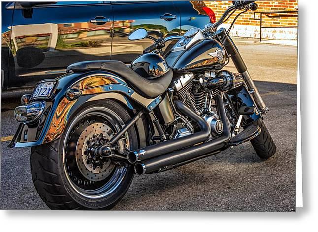 Harley Davidson Greeting Card by Steve Harrington