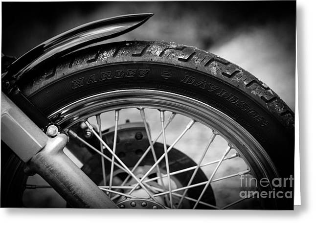 Harley Davidson Tire Greeting Card