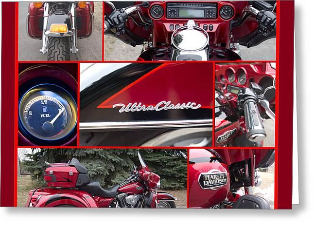 Harley Davidson Ultra Classic Trike Greeting Card