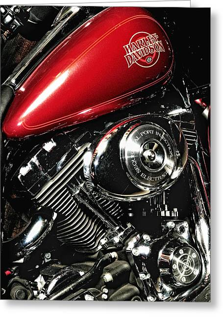 Harley Electra-glide Greeting Card