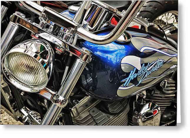 Harley Greeting Card by John Swartz