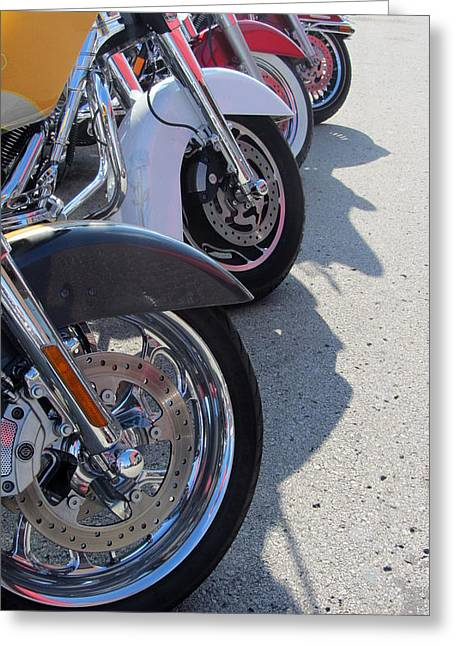 Harley Line Up 1 Greeting Card