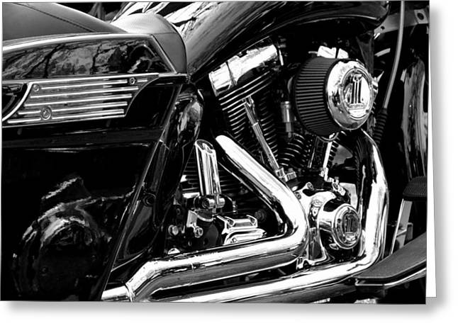 Harley Greeting Card by Michelle Calkins