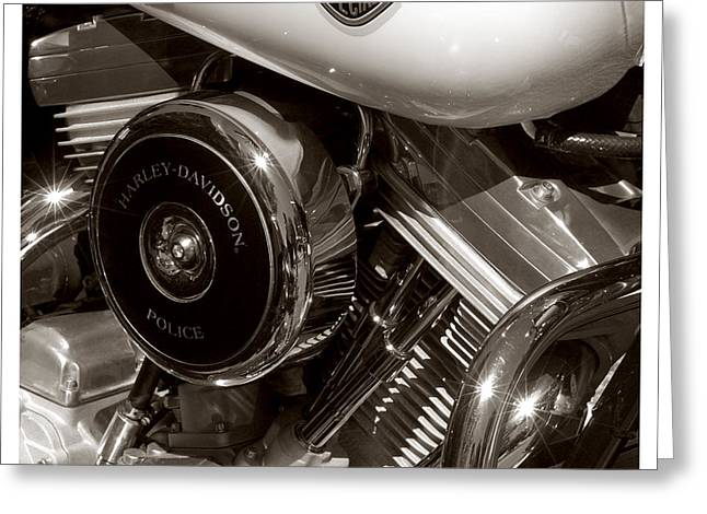Harley Police Special Greeting Card by Jeff Leland