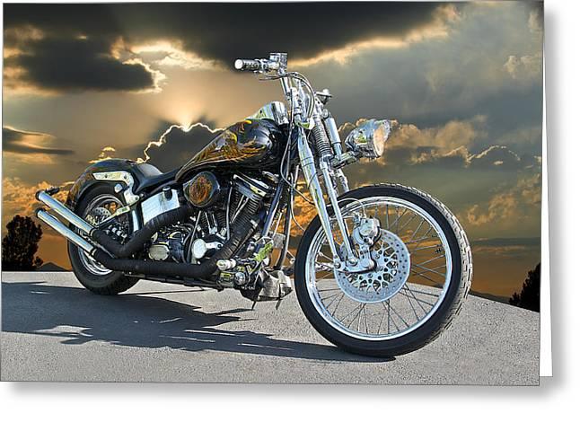 Harley Street Bike Greeting Card