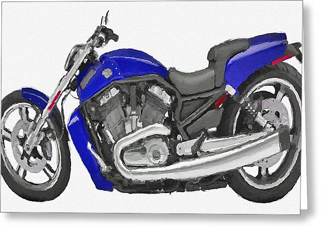 Harley V Rod Muscle Funny Bike Mixed Media By Aston Pershing