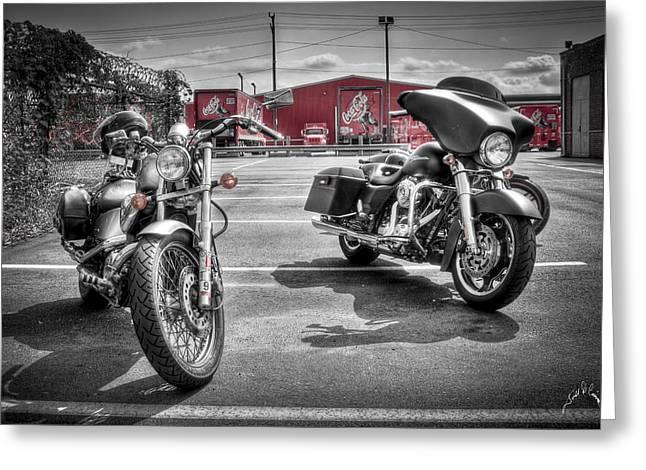 Harleys And Coke Greeting Card