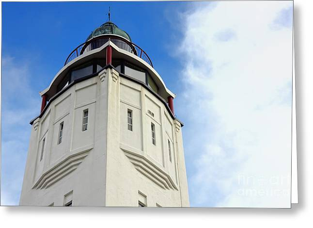 Harlingen Lighthouse Greeting Card by Jan Brons