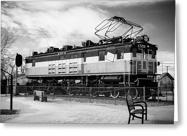 Harlo Train Greeting Card by Paul Bartoszek