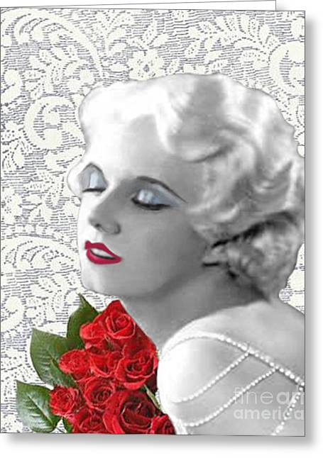 Harlow #9 Greeting Card by Maureen Tillman