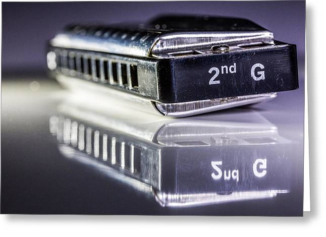 Harmonica Greeting Card by Gary Gillette