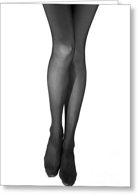 Harmonous Female Feet Greeting Card by Aleksey Tugolukov