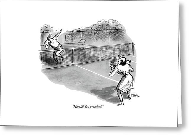 Harold! You Promised! Greeting Card by Barney Tobey