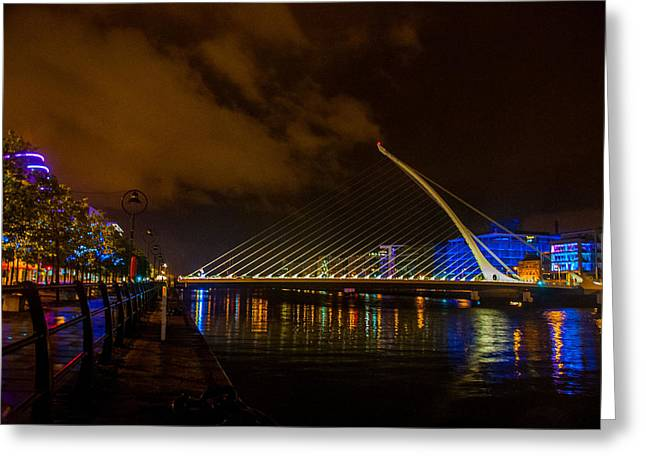 Harp Bridge Dublin Greeting Card by Rob Hemphill