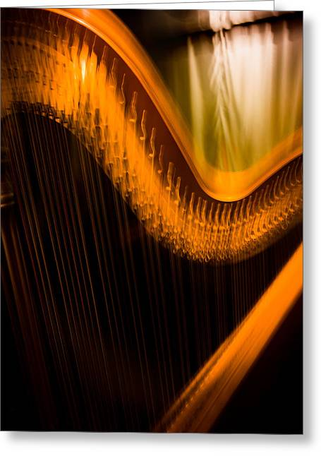 Harp Greeting Card