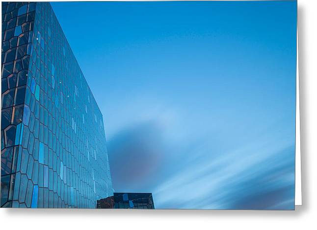 Harpa Concert And Convention Center Greeting Card by Panoramic Images