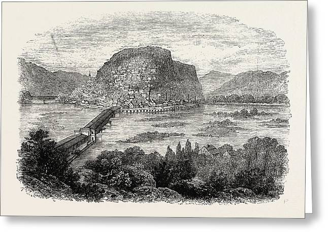Harpers Ferry, United States Of America Greeting Card by American School