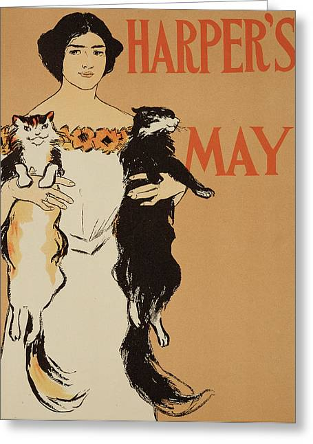 Harper's Magazine May Issue Greeting Card by Edward Penfield