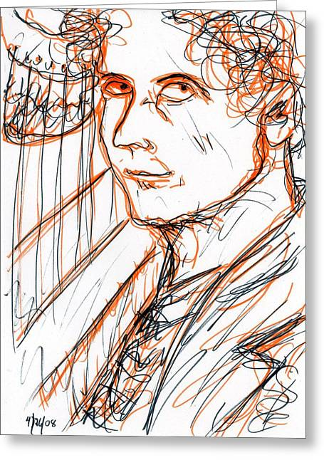 Harpo Marx Greeting Card