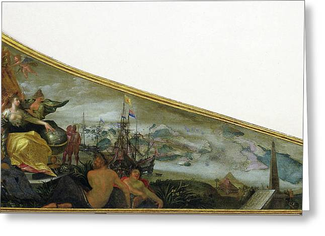 Harpsichord Lid Showing An Allegory Of Amsterdam Greeting Card by Litz Collection