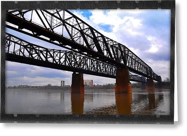 Harrahan Railroad Bridges Greeting Card by Reese Lewis