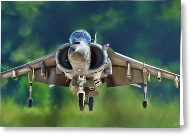 Harrier Arises Greeting Card by Dale Jackson
