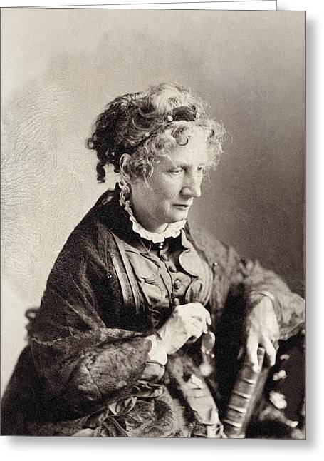 Harriet Beecher Stowe (1811-1896) Greeting Card by Granger