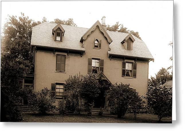 Harriet Beecher Stowes Residence, Hartford Greeting Card by Litz Collection