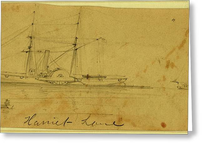 Harriet Lane, Between 1860 And 1865, Drawing On Cream Paper Greeting Card